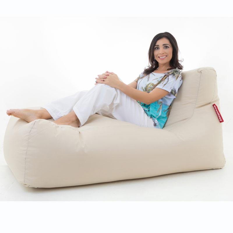 puff sofa grande bege