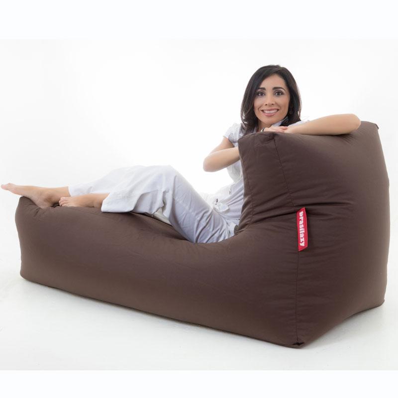 puff sofa grande marrom
