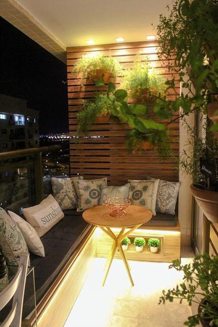 iluminação da varanda